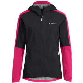 VAUDE Moab II Rain Jacket Women, negro/rosa